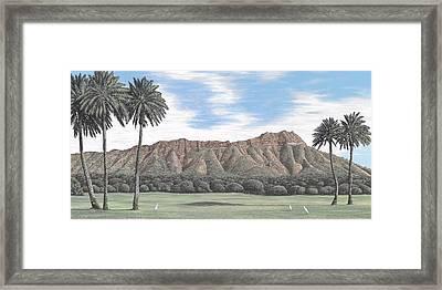 Diamond Head Kapiolani Park Framed Print by Andrew Palmer