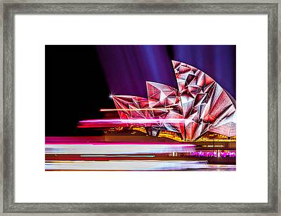 Diamond Sails Framed Print by Az Jackson