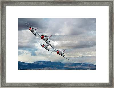 Diamonds Are Forever Framed Print by Peter Chilelli