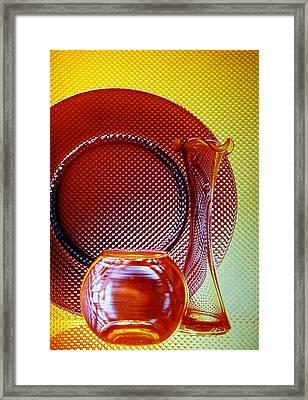Diamonds In Glass Framed Print by Marsha Elliott