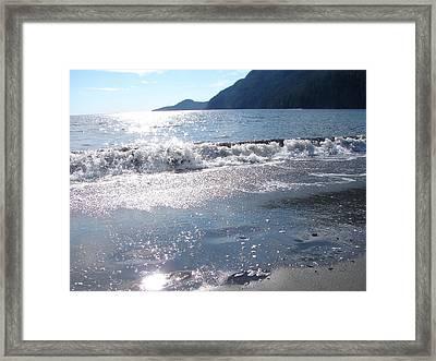 Diamonds In The Sand Framed Print by Chrissy Gibbs