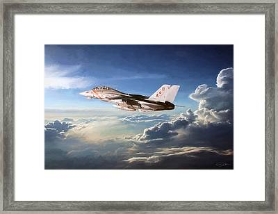 Diamonds In The Sky Framed Print by Peter Chilelli