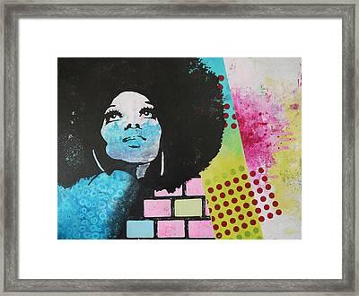 Diana Ross Framed Print by Bitten Kari