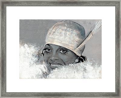 Diana Ross Framed Print by Neil Feigeles