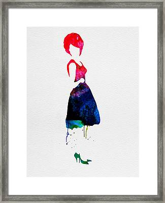 Diana Watercolor Framed Print by Naxart Studio