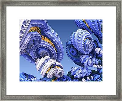 Diatom City 2 Framed Print by Kurt Kaf