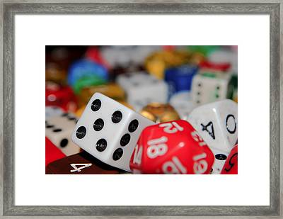 Dicey Situation Framed Print by Angelle Holmes
