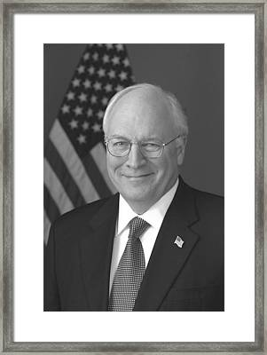 Dick Cheney Framed Print by War Is Hell Store