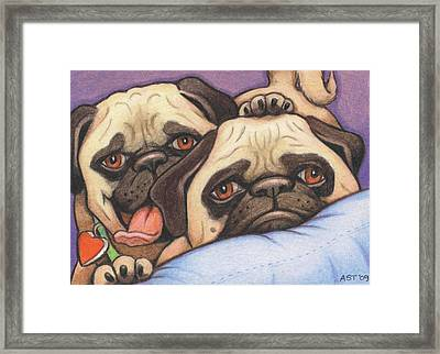 Did Someone Say Cookie Framed Print by Amy S Turner