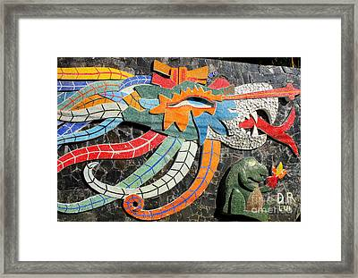 Diego Rivera Mural 7 Framed Print by Randall Weidner