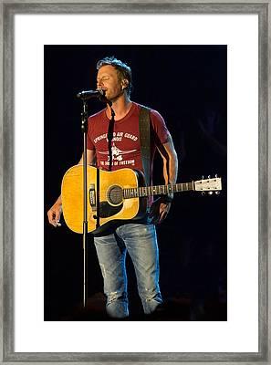 Dierks Bentley Concert Framed Print by Mike Burgquist