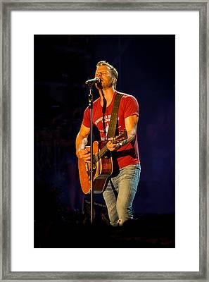 Dierks Bentley Guitar Framed Print by Mike Burgquist