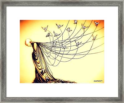 Dies Slowly Who Transforms Himself In Slave Of Habit Framed Print by Paulo Zerbato