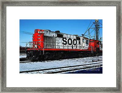 Diesel Locomotive Soo 416, Alco Rs27 Framed Print by Wernher Krutein