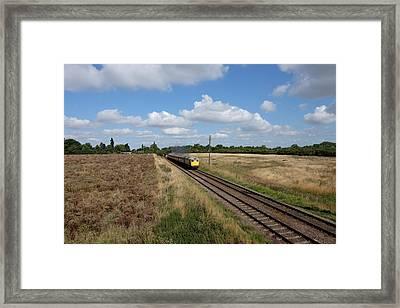 Diesel Train Framed Print by Mark Severn