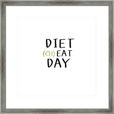 Diet Cheat Day- Art By Linda Woods Framed Print by Linda Woods