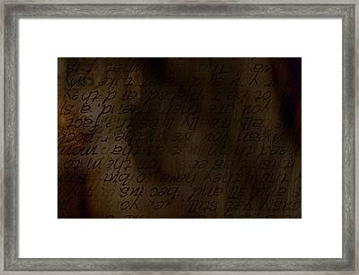 Different Dialects Framed Print by Vicki Ferrari