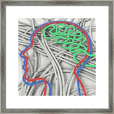 Different Mind Concept Framed Print by Gualtiero Boffi