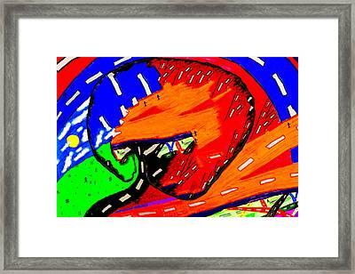 Difrent Way Framed Print by Aya Wafi