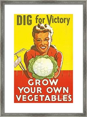 Dig For Victory Framed Print by English School