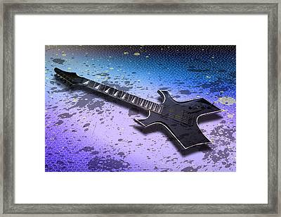 Digital-art E-guitar II Framed Print by Melanie Viola
