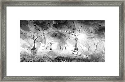Digital-art Fantasy Landscape IIi Framed Print by Melanie Viola