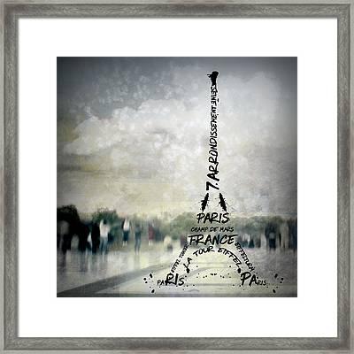 Digital-art Paris Eiffel Tower No.2 Framed Print by Melanie Viola