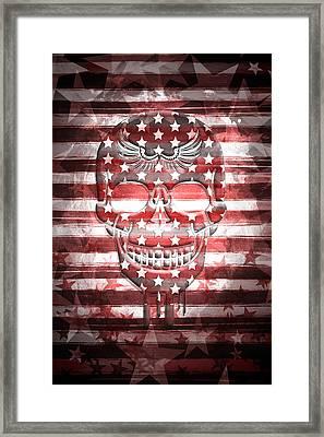 Digital-art Skull Framed Print by Melanie Viola