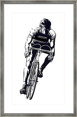 Digital Cyclist Framed Print by Daniel Hagerman