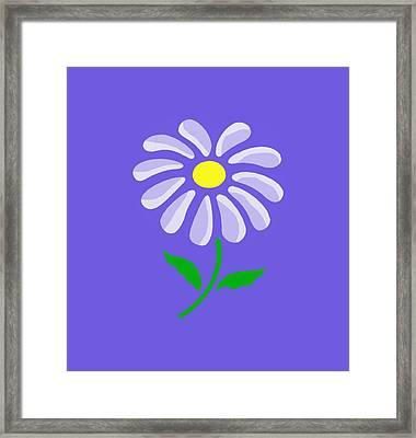 Digital Flower  Framed Print by Gina Lee Manley