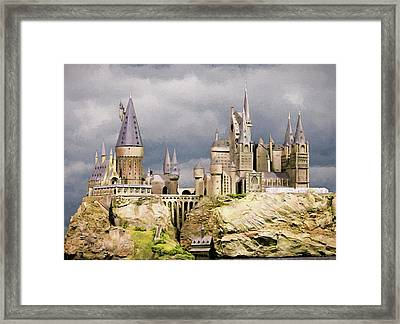 Digital Hogwarts School  Framed Print by Roy Pedersen
