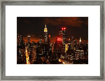 Digital Sunset Framed Print by Andrew Paranavitana
