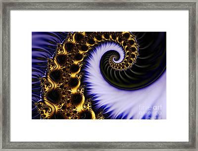 Digital Wave Framed Print by Clayton Bruster
