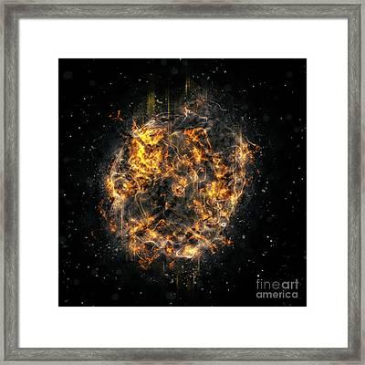 Digitally Created Exploding Supernova Star  Framed Print by Ilan Rosen