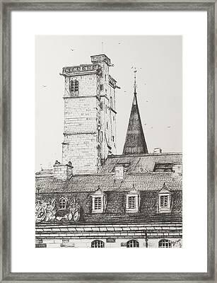Dijon Rooftops Framed Print by Vincent Alexander Booth