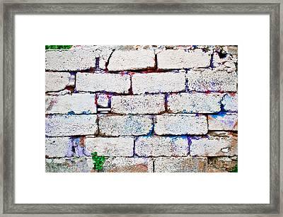 Dilapidated Brick Wall Framed Print by Tom Gowanlock