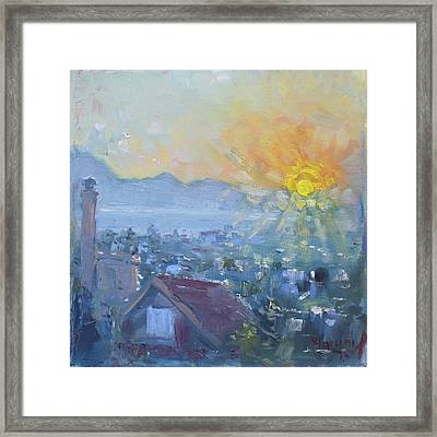 Dilesi In A Brand New Day  Framed Print by Ylli Haruni