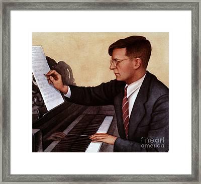 Dimitri Shostakovich Framed Print by Granger