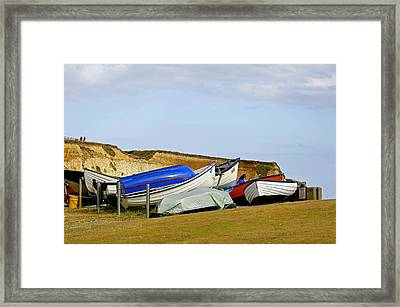 Dinghy Park At Freshwater Bay Framed Print by Rod Johnson