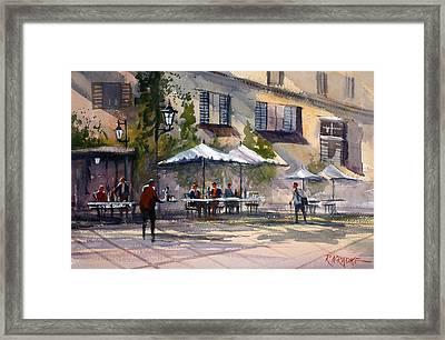 Dining Alfresco Framed Print by Ryan Radke
