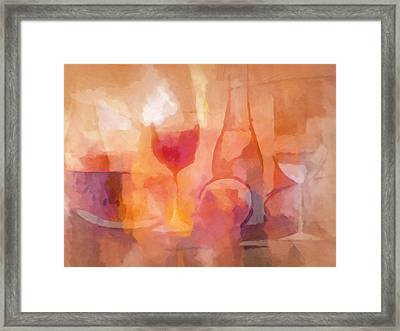 Dining Mood Framed Print by Lutz Baar