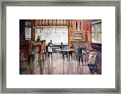 Dinner For Two Framed Print by Ryan Radke
