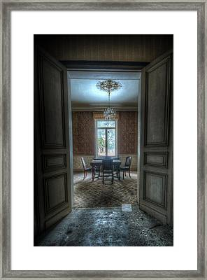 Dinning Room Framed Print by Nathan Wright