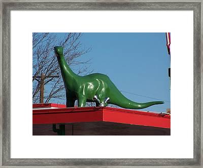Dino Framed Print by David Gianfredi