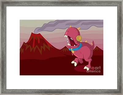 Dino Framed Print by Kyle Harper