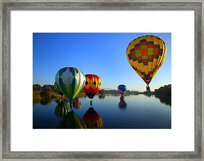 Dip And Go Framed Print by Mike  Dawson