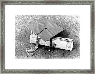 Diplomas By Newspaper Framed Print by Underwood Archives