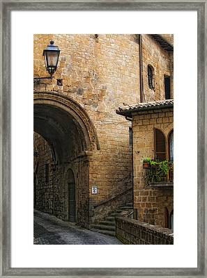 Direction To Ristorante Le Grotte Del Funaro Framed Print by Lynn Andrews