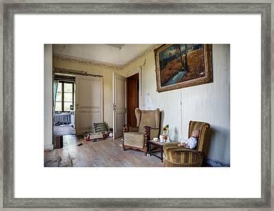 Directors Living Room - Urban Exploration Framed Print by Dirk Ercken