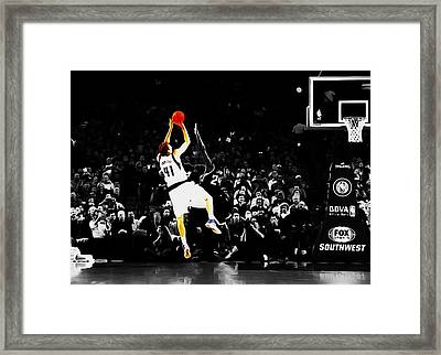 Dirk Nowitzki Fade Away Jumper Framed Print by Brian Reaves
